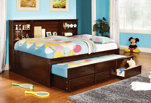 Furniture of America Hervey Trundle Drawers Full Bed FOA-CM7583CH-F-BED