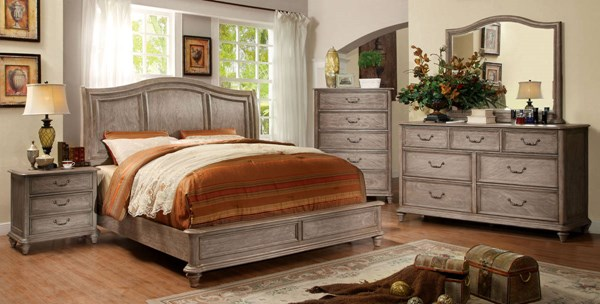Belgrade II Rustic Natural Tone Solid Wood Queen Bed FOA-CM7611Q-BED