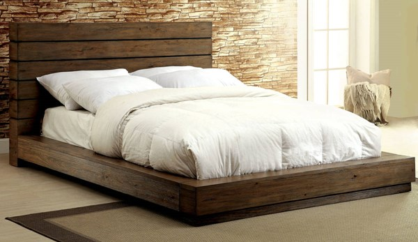 Coimbra Rustic Natural Tone Solid Wood Beds FOA-CM7623-BED-VAR