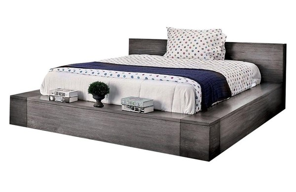Furniture of America Janeiro Gray King Bed FOA-CM7628GY-EK-BED