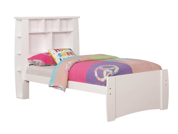 Furniture of America Marlee White Twin Bed FOA-CM7651WH-T-BED
