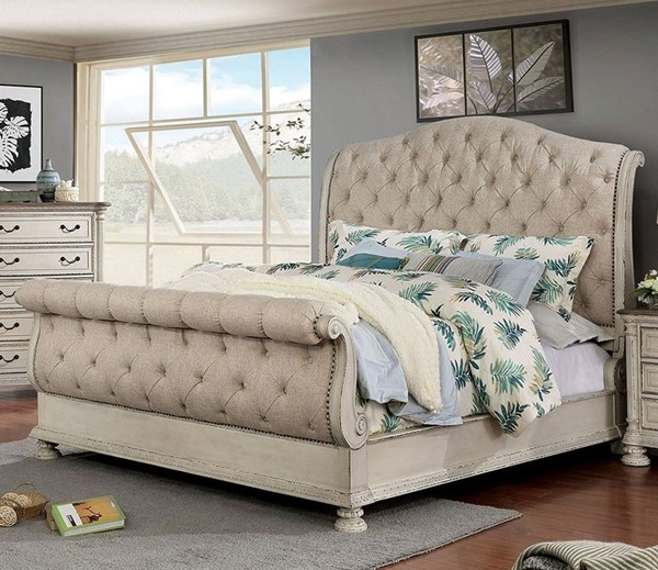 Furniture Of America Lysandra White Queen Bed FOA-CM7663WH-Q-BED
