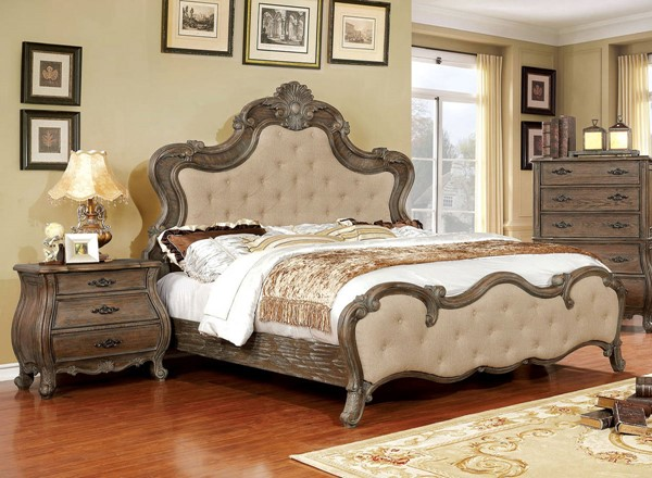 Furniture Of America Cursa 2pc Bedroom Set with Queen Bed FOA-CM7664Q-BR-S3