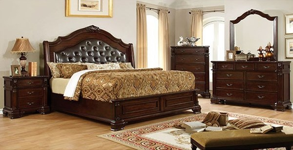 Furniture of America Edinburgh Master Bedroom Set FOA-CM7671-BR