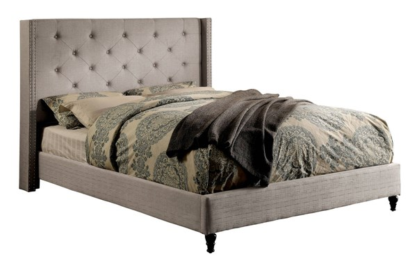 Furniture of America Anabelle Warm Gray King Bed FOA-CM7677GY-EK-BED