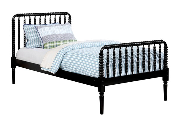 Furniture of America Jenny Black Twin Bed FOA-CM7741BK-T-BED