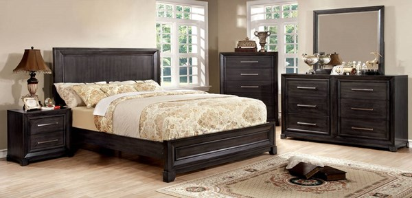 Furniture of America Bradley Wooden Headboard Beds FOA-CM7780-BED-VAR