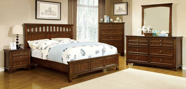 Chelsea Transitional Cherry Solid Wood Cal King Bed FOA-CM7781CK-BED