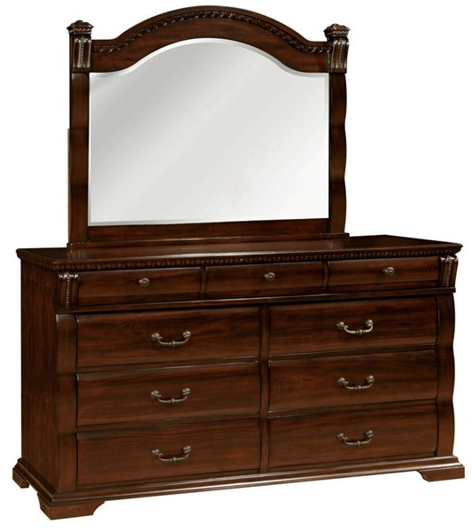 Furniture of America Burleigh Dresser and Mirror FOA-CM7791-DRMR
