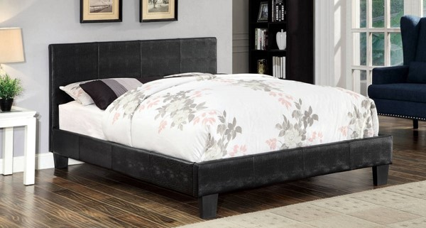 Furniture of America Wallen Black Queen Bed FOA-CM7793BK-Q-BED