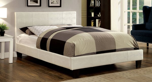 Furniture of America Wallen Pearl White Full Bed FOA-CM7793WH-F-BED