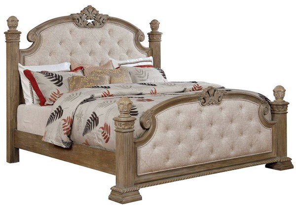 Furniture of America Montgomery Rustic Natural Cal King Bed FOA-CM7800CK-BED