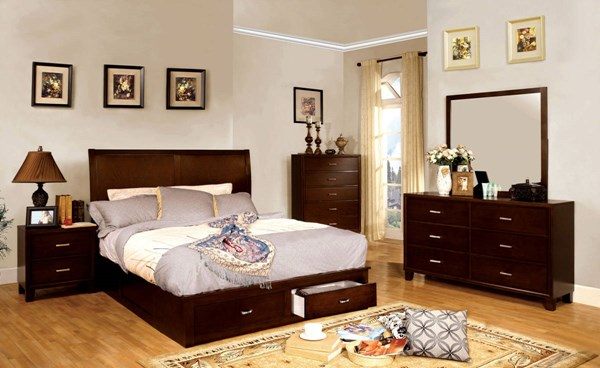 Furniture of America Enrico V Master Bedroom Set FOA-CM7807-7068-BR