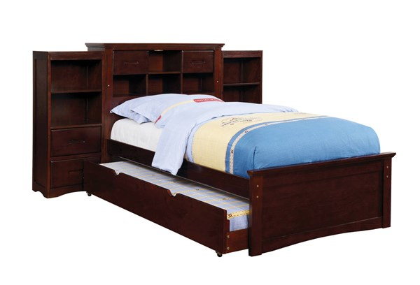 Furniture Of America Pearland Bookcase Trundle Beds FOA-CM7844-3PK-TR-BED-VAR
