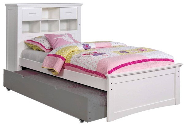 Furniture of America Pearland White Twin Bed FOA-CM7844WH-T-BED