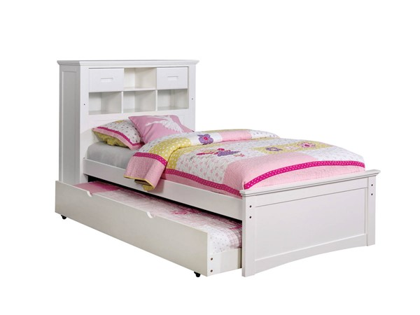 Furniture Of America Pearland White Full Trundle Bed FOA-CM7844WH-F-TR-BED