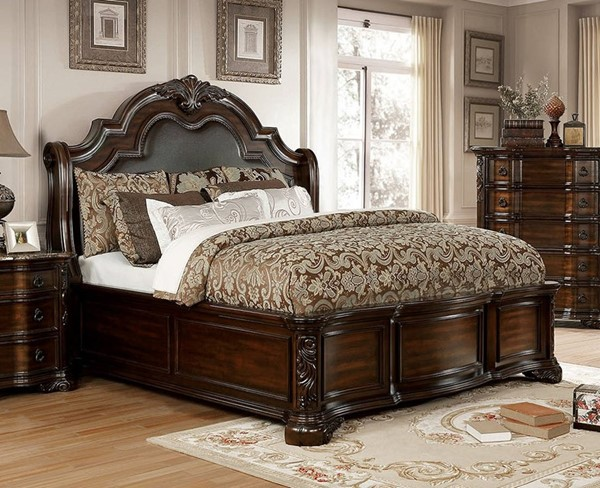 Furniture of America Niketas Brown Cherry King Bed FOA-CM7860EK-BED