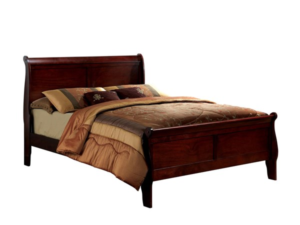 Furniture of America Louis Philippe III Cherry King Bed FOA-CM7866CH-EK-BED