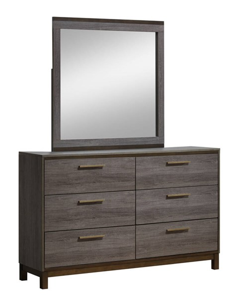 Furniture Of America Manvel Two Tone Antique Gray Dresser And Mirror FOA-CM7867-DRMR