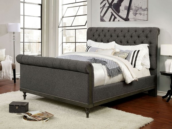 Furniture Of America Hoven Gray King Bed FOA-CM7889EK-BED