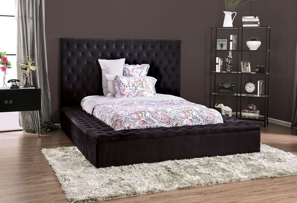 Furniture Of America Davida Black Gray Beds FOA-CM7897-BEDS