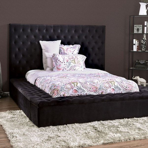 Furniture Of America Davida Dark Gray Cal King Bed FOA-CM7897BK-CK-BED