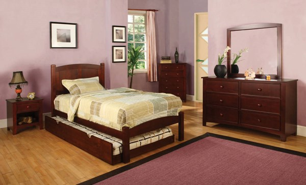 Cara Cottage Cherry Oak Solid Wood Kids Bedroom Set FOA-CM7903-905-KBR