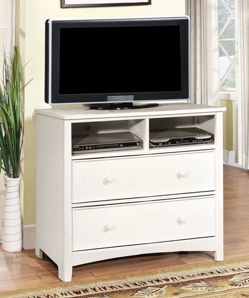 Furniture of America Omnus White Media Chest FOA-CM7905WH-TV