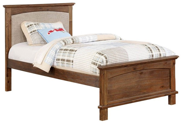 Furniture of America Colin Fabric Twin Bed FOA-CM7909A-P-T-BED