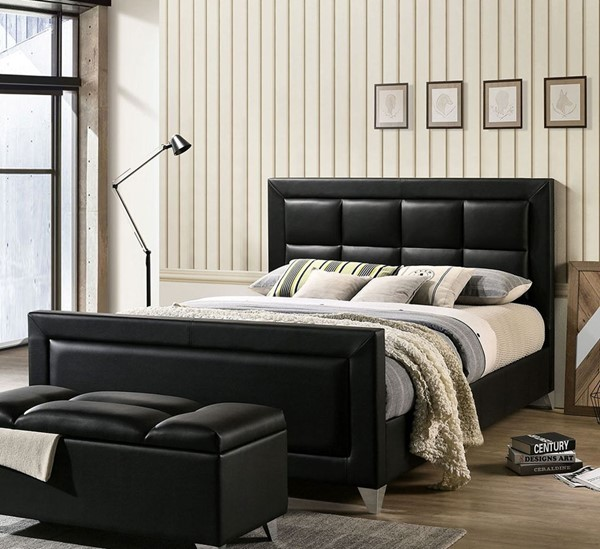 Furniture of America Menkar Black Chrome Beds FOA-CM7913-BEDS-VAR