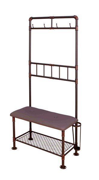Kora Sand Black Copper Metal 34 Inch Hallway Bench The Classy Home