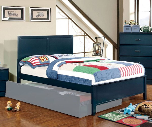 Furniture of America Prismo Blue Full Bed FOA-CM7941BL-F-BED