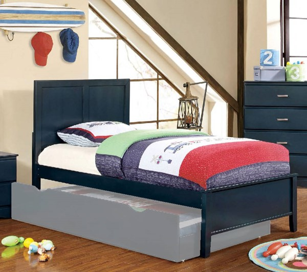Furniture of America Prismo Blue Twin Bed FOA-CM7941BL-T-BED