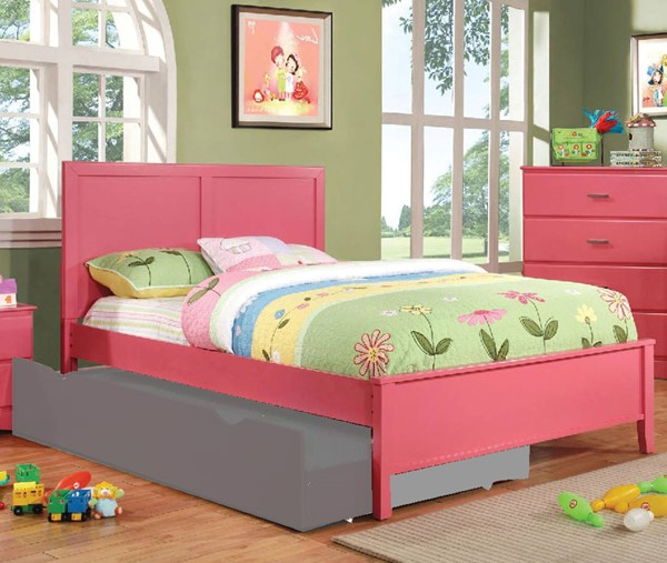 Furniture of America Prismo Pink Full Bed FOA-CM7941PK-F-BED