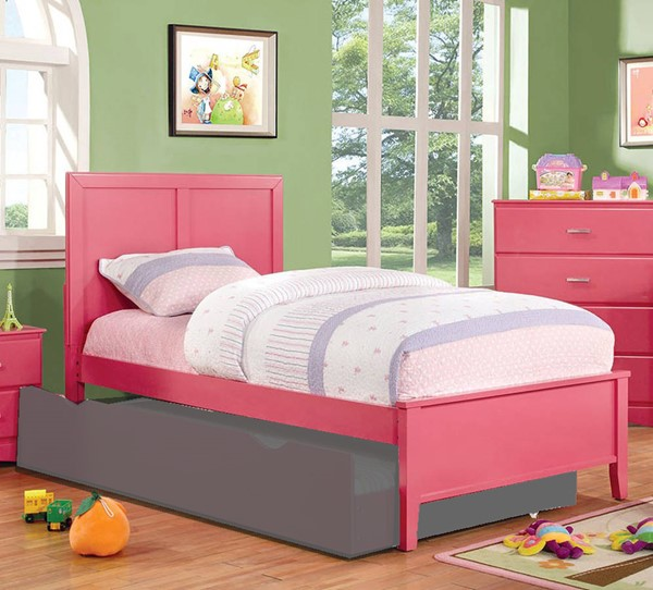 Furniture of America Prismo Pink Twin Bed FOA-CM7941PK-T-BED