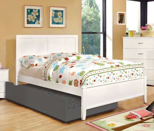 Furniture of America Prismo White Full Bed FOA-CM7941WH-F-BED