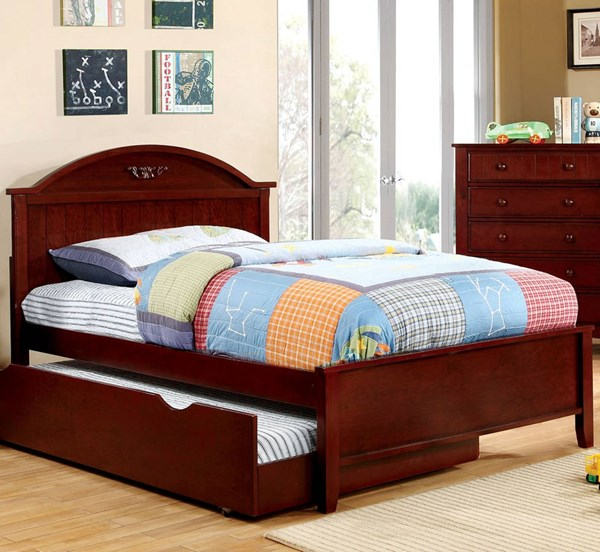 Furniture of America Medina Cherry Trundle Bed FOA-CM7942-TRBED-VAR