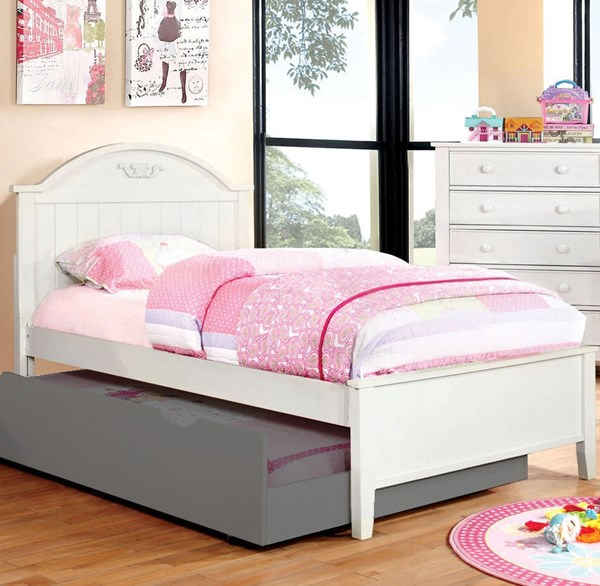 Furniture of America Medina White Twin Bed FOA-CM7942WH-T-BED