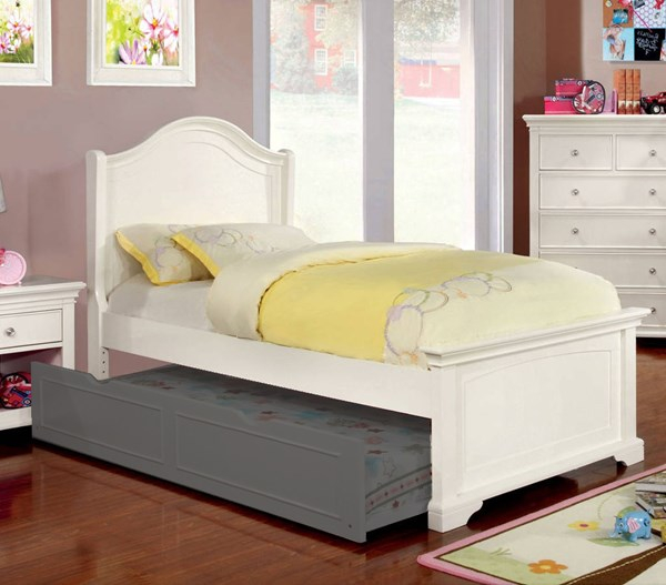 Furniture of America Mullan Twin Bed FOA-CM7943WH-T-BED
