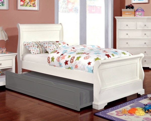 Furniture of America Mullan Full Sleigh Bed FOA-CM7944WH-F-BED