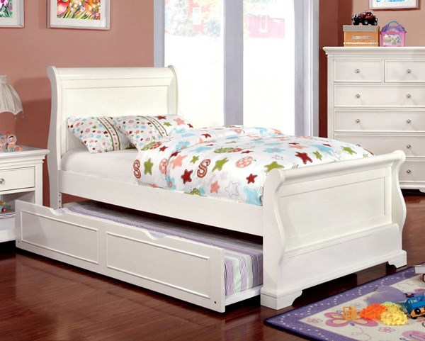 Furniture of America Mullan Trundle Sleigh Beds FOA-CM7944WH-TRBED-VAR