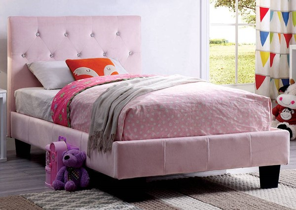 Furniture of America Velen Pink Twin Bed FOA-CM7949PK-T-BED