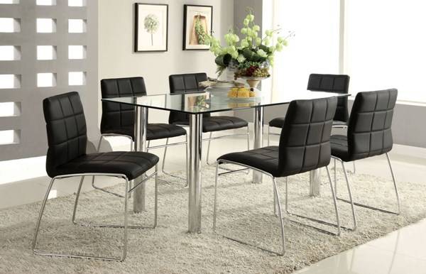 Furniture of America Oahu Glass Top Dining Table FOA-CM8319T-TABLE