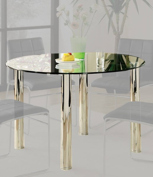Furniture of America Kona I Glass Top Round Dining Table FOA-CM8320T-TABLE