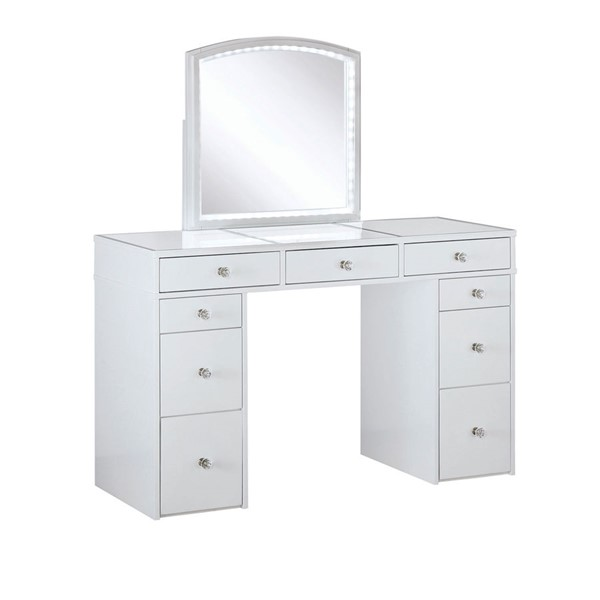 Furniture Of America Louise White Vanity with Stool FOA-DK5240-SET