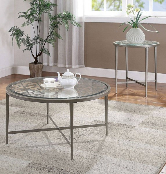 Furniture Of America Freja White 3pc Coffee Table Set FOA-FOA4743-OCT-S1