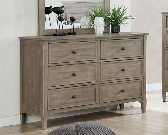 Furniture Of America Vevey Wire Brushed Warm Gray Dresser FOA-7175D