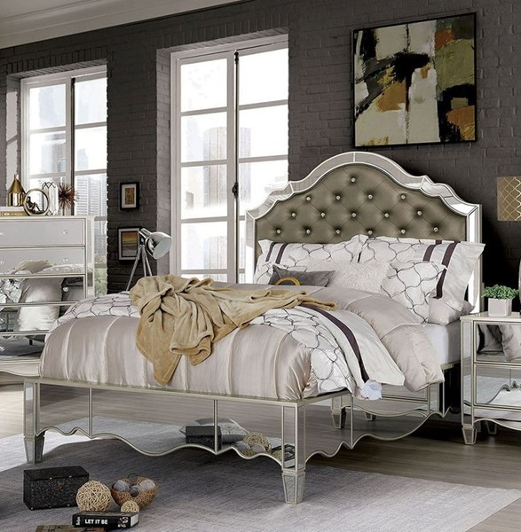 Furniture Of America Eliora Silver King Bed FOA-FOA7890EK-BED