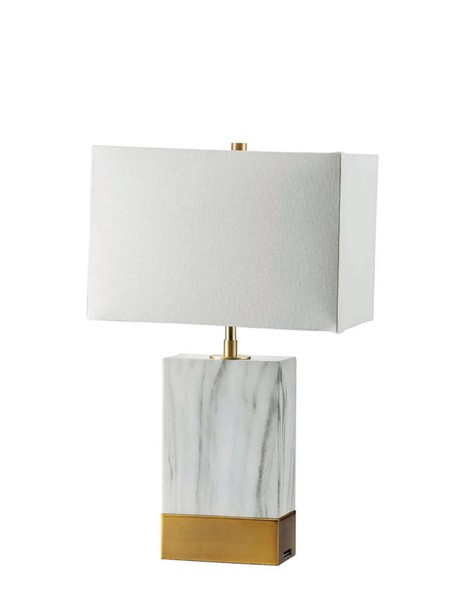 Furniture of America Faith White Gold 20 Inch Table Lamps FOA-L731197-LP-VAR