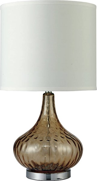 Furniture of America Donna Amber 15 Inch Glass Table Lamp FOA-L731207AM